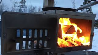 FASTFOLD TITANIUM STOVE - Ultralight Portable Woodstove for Hot Tent Winter Camping by Winnerwell