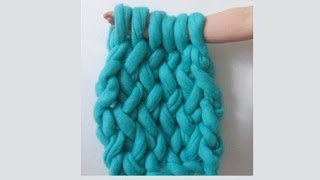 Arm Knitting: Through the Back Loop Tutorial