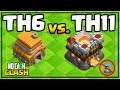 TH6 CRUSHES TH11   Clash Of Clans No Cash Clash #16