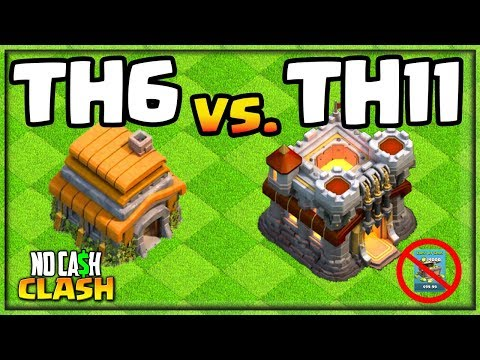 TH6 CRUSHES TH11 - Clash Of Clans No Cash Clash #16