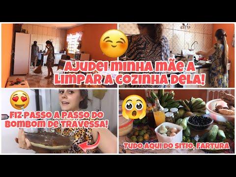 vlog:-ajudei-limpar-a-cozinha-da-minha-mÃe/-fiz-bombom-de-travessa!-❤️