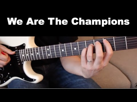 We Are The Champions Guitar Lesson - Tutorial - How To Play