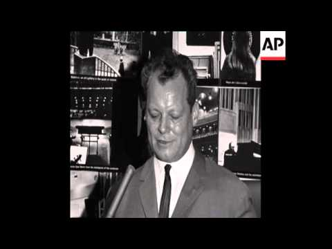 CAN 195 INTERVIEW WITH MAYOR OF WEST BERLIN, WILLY BRANDT AT THE WORLD FAIR