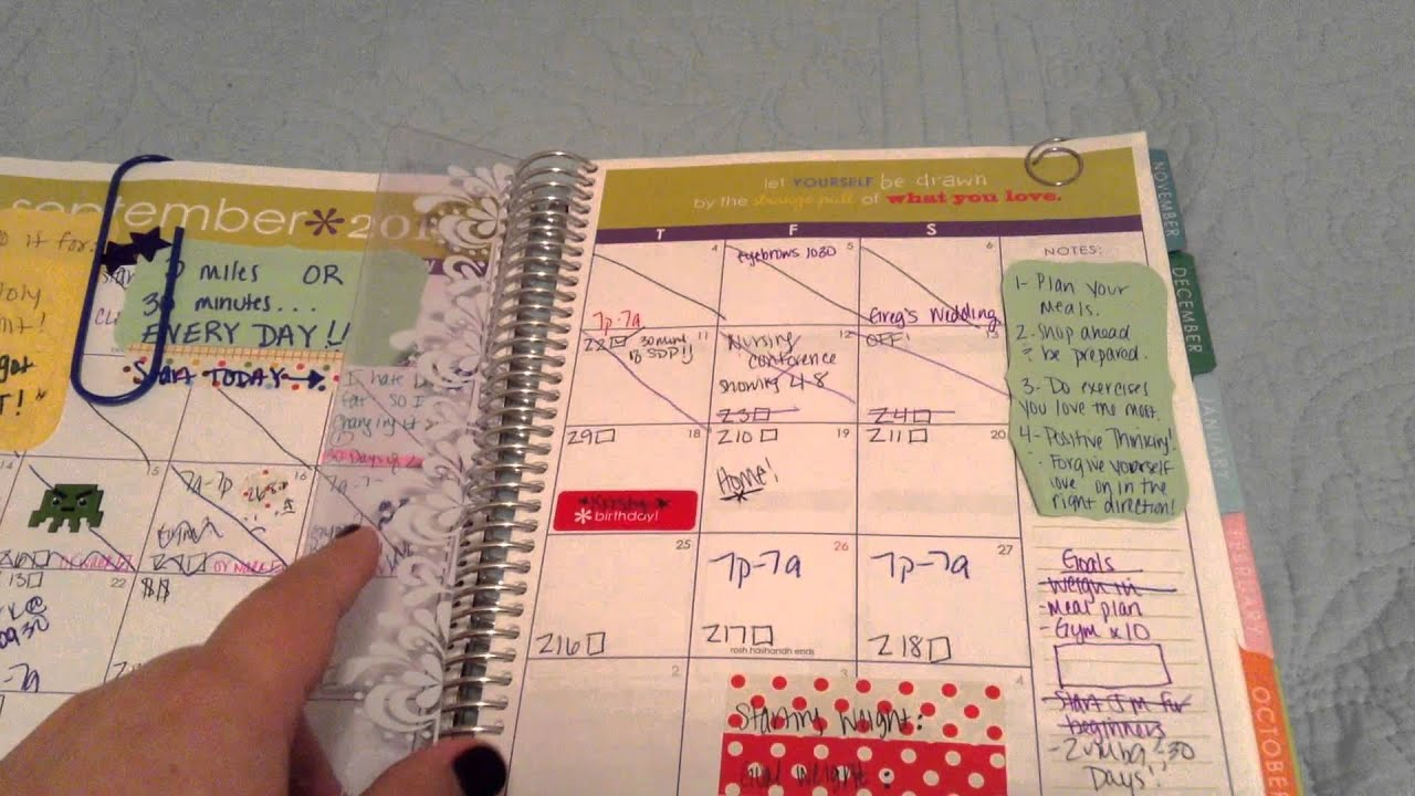 Erin Condren planner for weight loss - YouTube