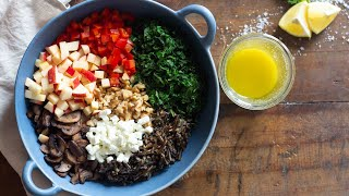 Warm Wild Rice Salad Full Of Flavor and Crunch