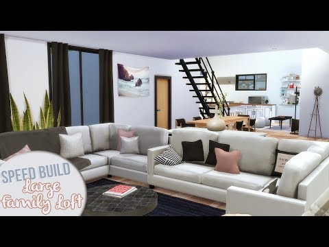 LARGE FAMILY LOFT | The Sims 4 Speed Build