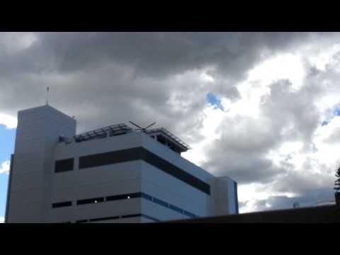 STARS Helicopter leaving Foothills Medical Centre