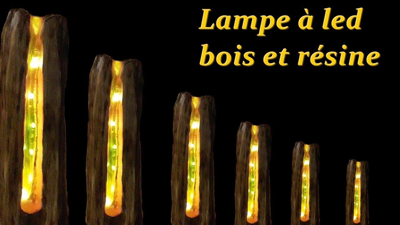 Fabriquer Une Applique En Bois resin light led and wood