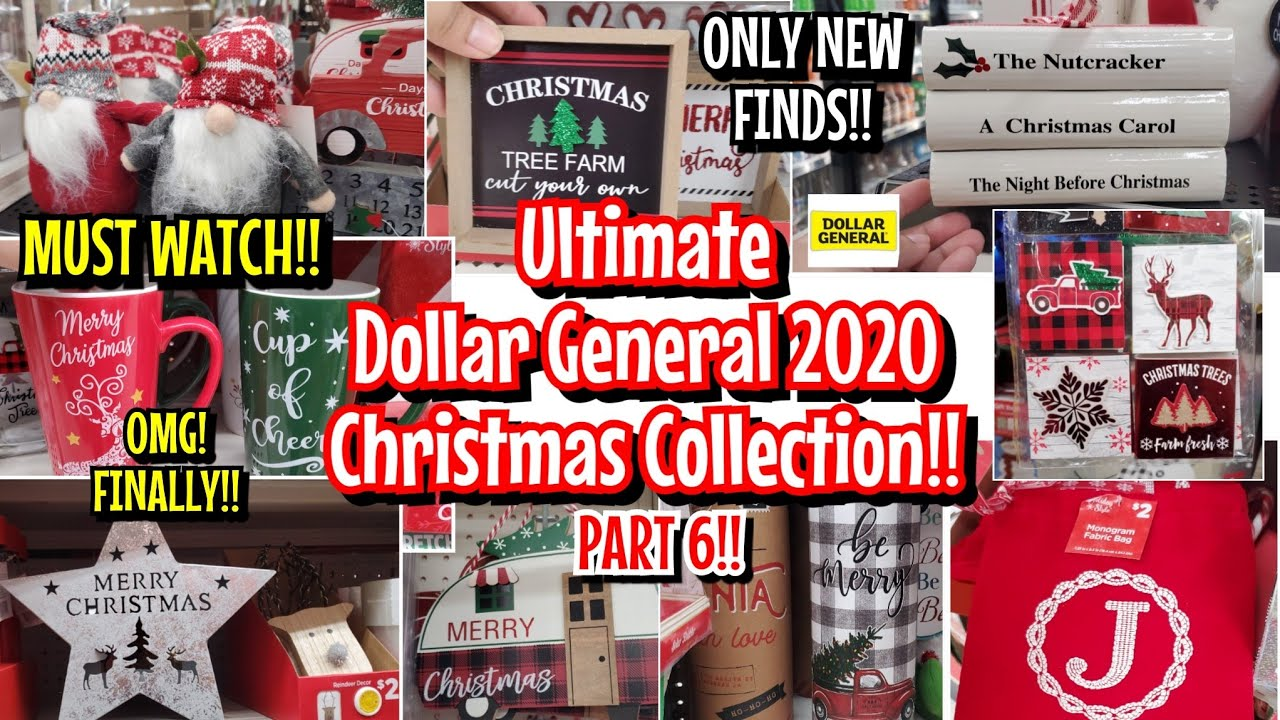 Is Dollar General Open On Christmas Day 2021 Ultimate Part 6 Dollar General Christmas 2020 Decor Collection Shop With Me Youtube