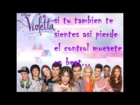 Violetta on beat (letra-Karaoke) Videos De Viajes