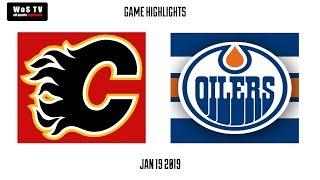 NHL Highlights   Calgary Flames vs  Edmonton Oilers   Jan  19, 2019