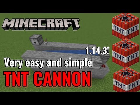 MINECRAFT-How To Build/make An Easy TNT Cannon 1.14 (Xbox/Pc/Pe/Switch)