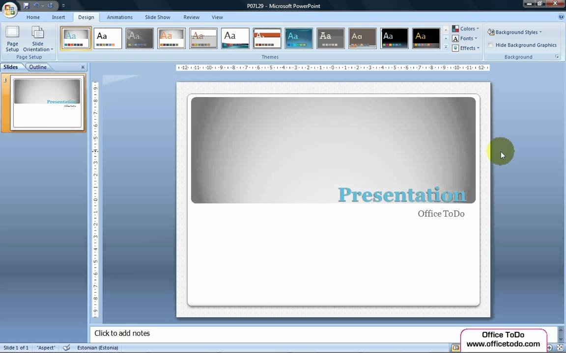 Watch How to Add Background Graphics to Powerpoint video