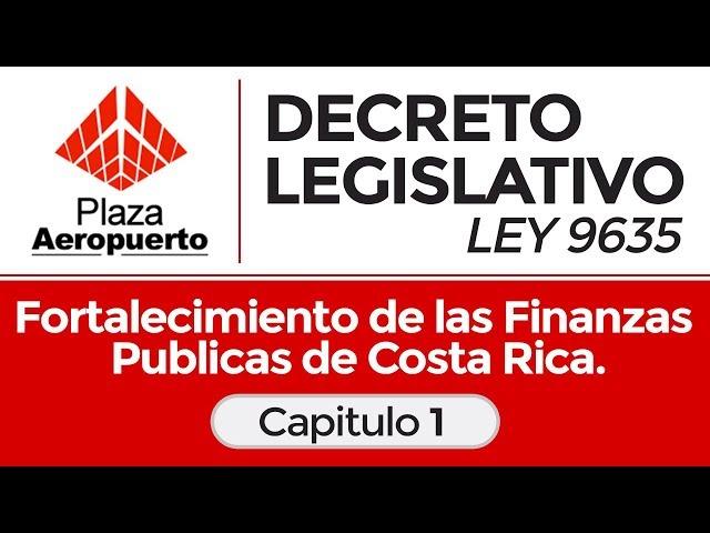 Capitulo 1 - Decreto legislativo ley 9635 - Fortalecimiento de las finanzas publicas.