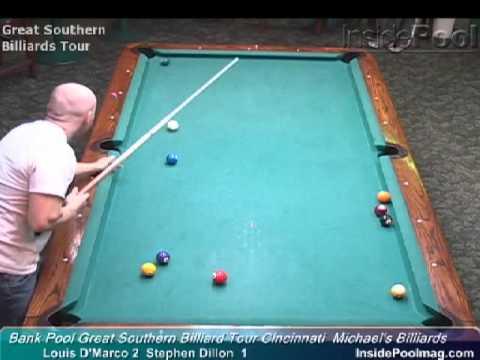 Billiards Louis D'Marco vs Stephen Dillon at the Great Southern Billiard Tour