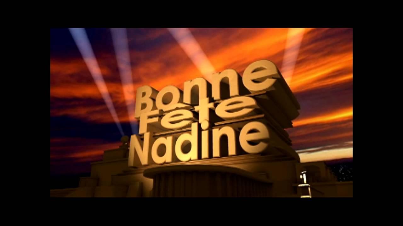 Bonne Fête Nadine