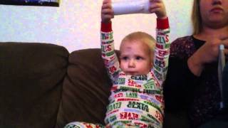 Potty mouth baby playing Wii