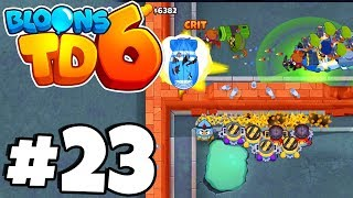 WORLDS TOUGHEST MAP! Line Of Sight HELL! - Bloons Tower Defense 6 Part 23 (BTD 6 IOS/Android)