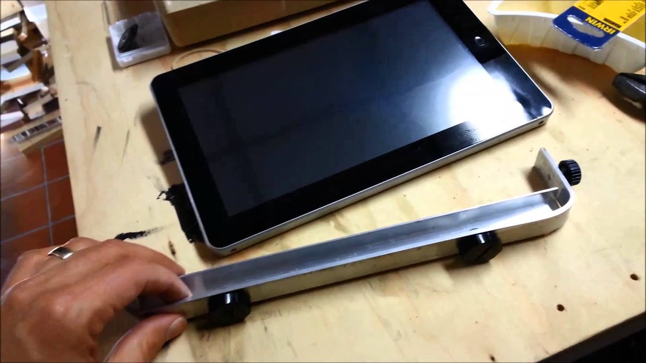 Car Tablet Mount Diy Youtube