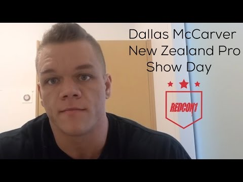 Redcon1 - Dallas McCarver Diary -  New Zealand 3/08/17 - NZ Pro Show day