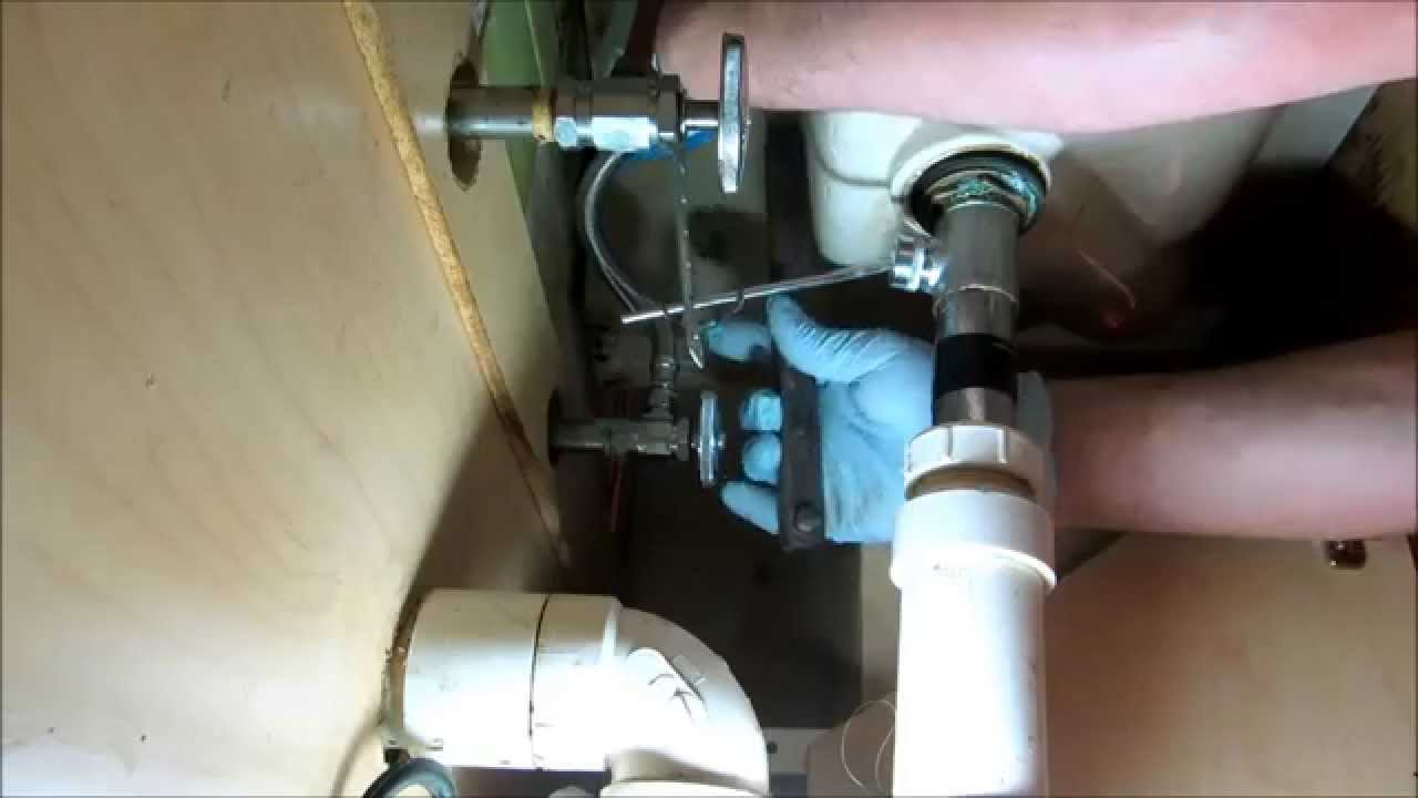 plumbing:bad water leak under bathroom sink - YouTube