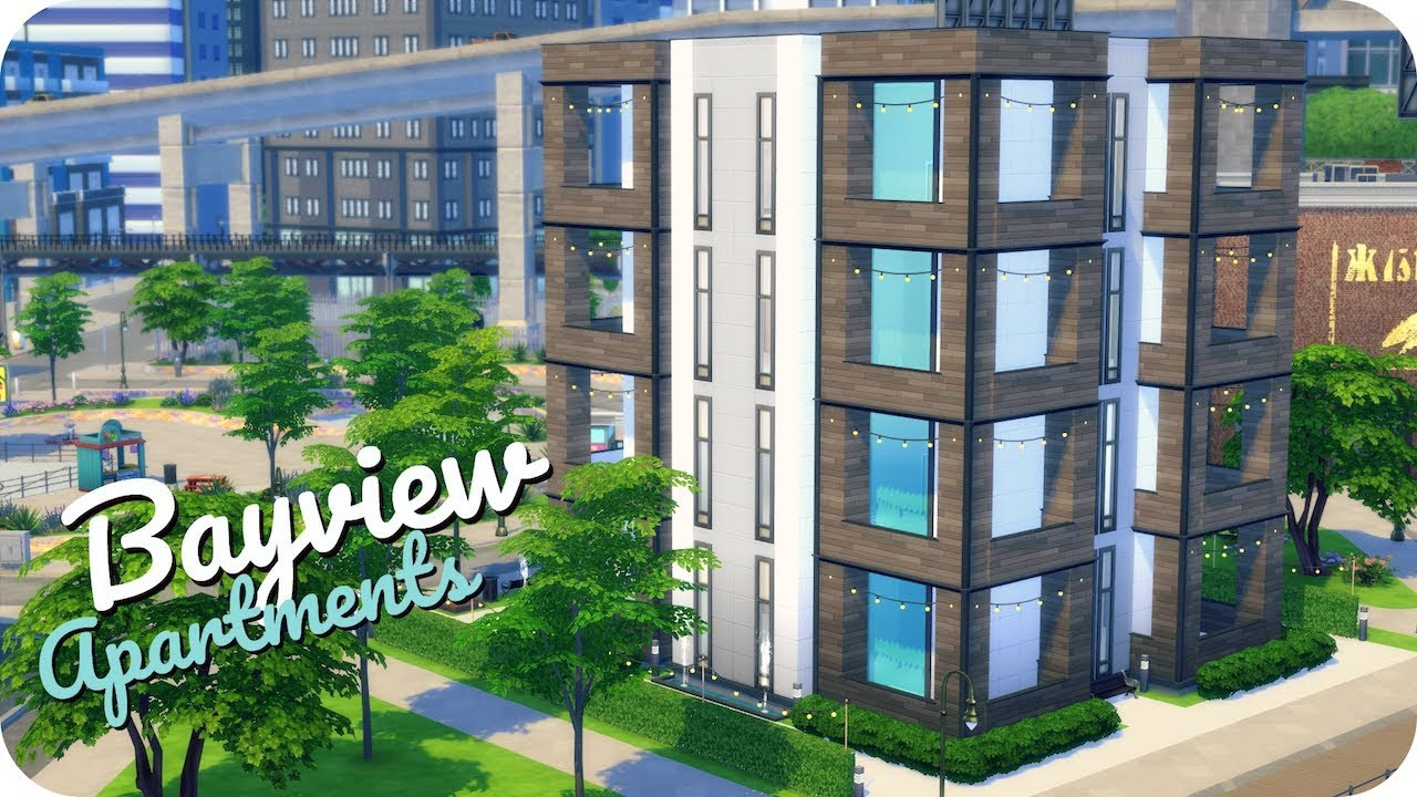 BAYVIEW APARTMENTS GROUP COLLAB | Sims 4 House Building (with Fantayzia,  Hatsy, Delphron U0026 More!)