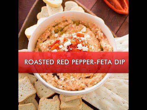 Greek Roasted Red Pepper and Feta Cheese Dip (Htipiti) - Chili Pepper Madness