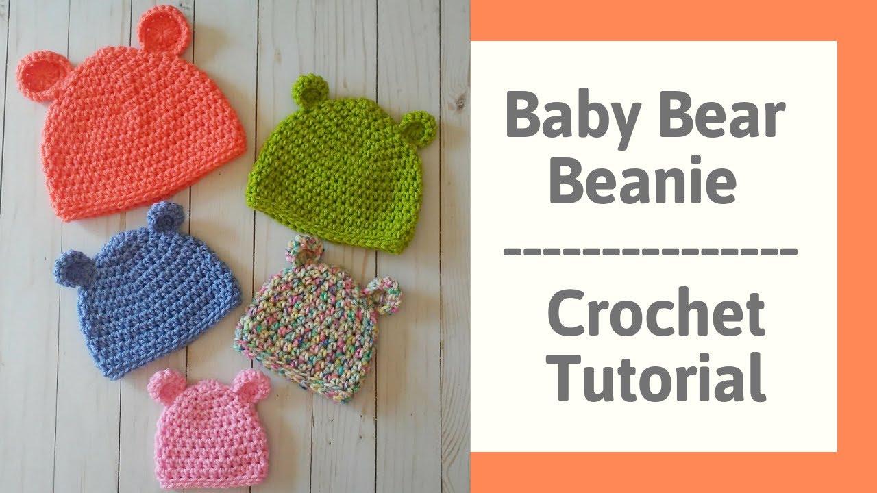 f4ca16363bf Baby Bear Hat Crochet Tutorial