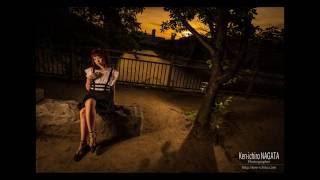 夕焼けポートレートの撮影です。 ストロボを2灯使用しています。 Nikon ...