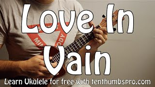 Love In Vain Blues - Robert Johnson - Delta Blues Ukulele Tutorial, Strummer and Fingerpicking