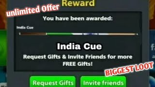 8 Ball Pool { GET FREE } 👉 INDIA CUE 👈 Free Reward Link Is Back 👍👍