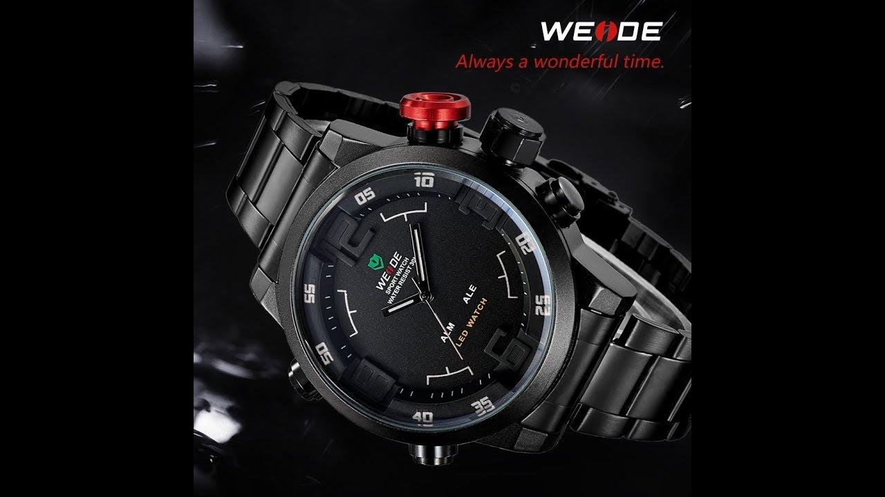 e47bd23a7c4 UNBOX Relógio Masculino Weide Casual Vermelho WH-2309B  Produto Bom ...