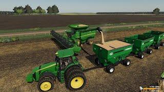 MidWest Horizons Ep#1 | Harvest, Planting, | FS19 Timelapse |Farming Simulator 19 Timelapse