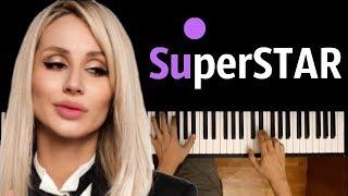 LOBODA - SuperSTAR ● караоке | PIANO_KARAOKE ● ᴴᴰ + НОТЫ & MIDI
