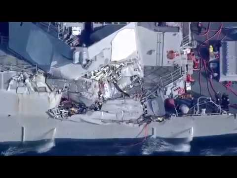 US Navy Aegis ship and Philippine cargo ship collision. 7 people missing.