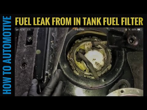 How to Replace the In Tank Fuel Filter on a 2010-2017 Volkswagen Touareg do to Fuel Leak