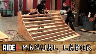 How-to Build A Skatepark - Quarter Pipe Part 2: Studs And Framing - Manual Labor