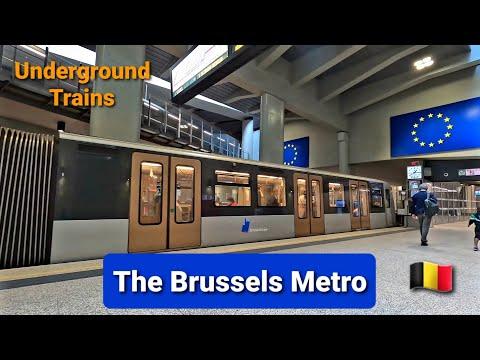 The Brussels Metro (Underground Trains)