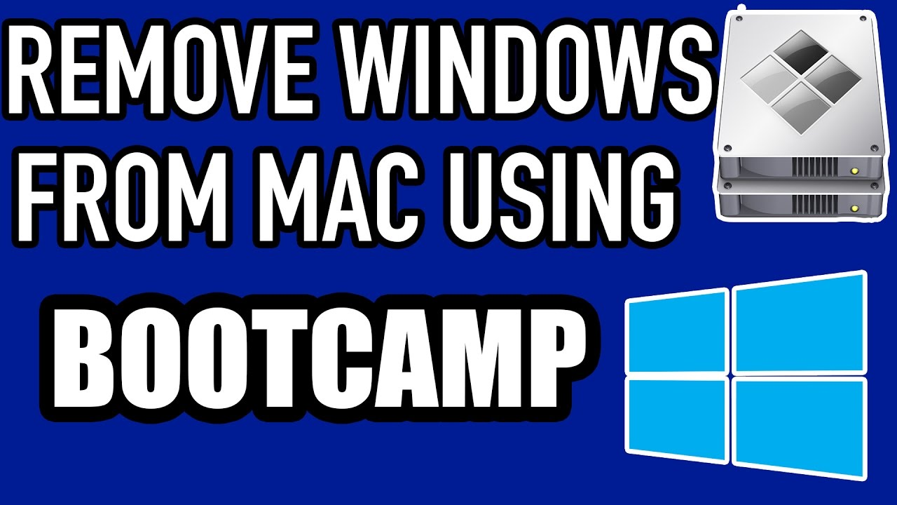 how to uninstall bootcamp on mac