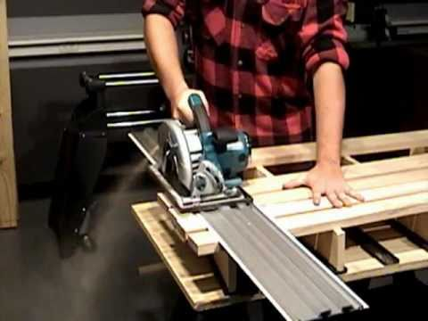 Truetrac track saw guide system youtube for Woodworking guide