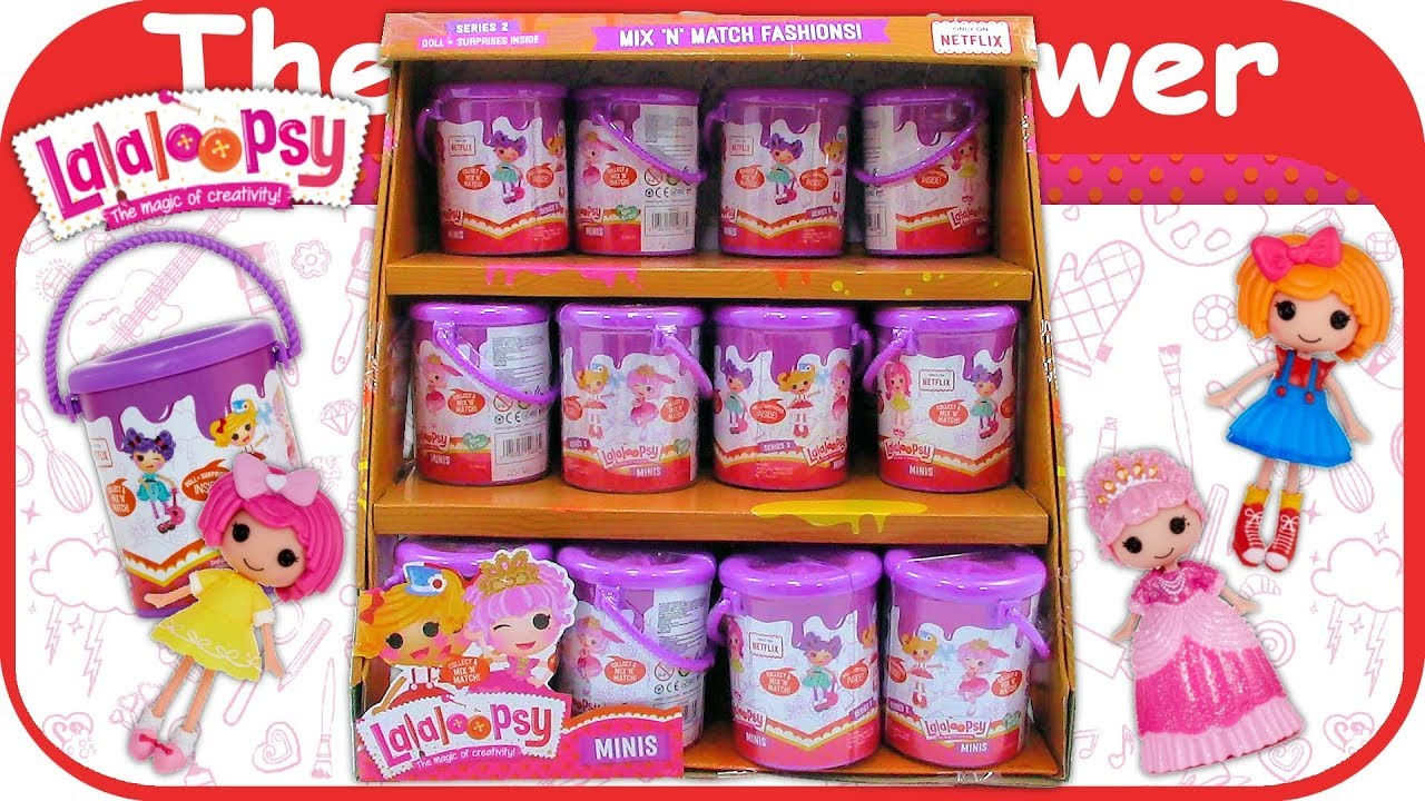 Lalaloopsy Minis Series 2 Paint Cans Blind Bags Full Case
