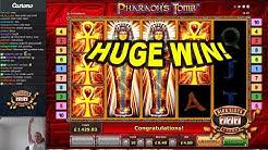 HUGE WIN on Pharaoh's Tomb Slot - £4 Bet!