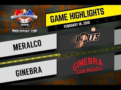 PBA 2018 Philippine Cup Highlights: Meralco vs Ginebra Feb. 18, 2018