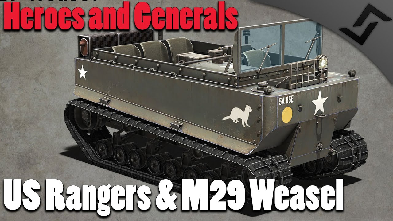 small resolution of heroes and generals us rangers squad m29 weasel gameplay