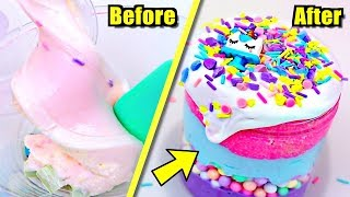 EXTREME SLIME MAKEOVER on UNWANTED SLIMES! Can Bad SLIME Be FIXED??