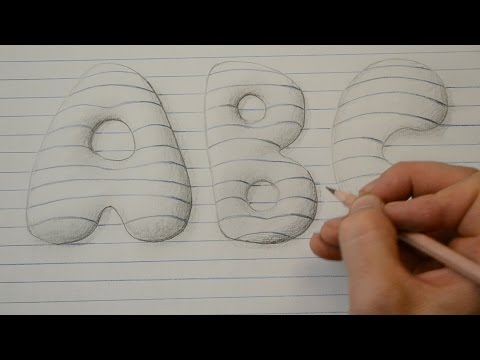 drawing bubble letters drawing the alphabet in 3d with paolo morrone doovi 20527