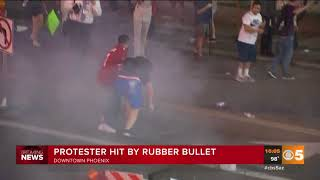 Anti-Trump Protester Gets Hit With Gas Canister Right in the Gonads
