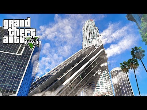 MEGA EARTHQUAKE DESTROYS LOS SANTOS - GTA 5 END OF LOS SANTOS EARTHQUAKE MOD