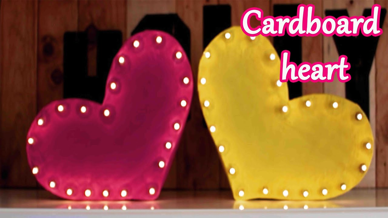 Cardboard heart with lights, Valentine\'s Day - Mery - YouTube