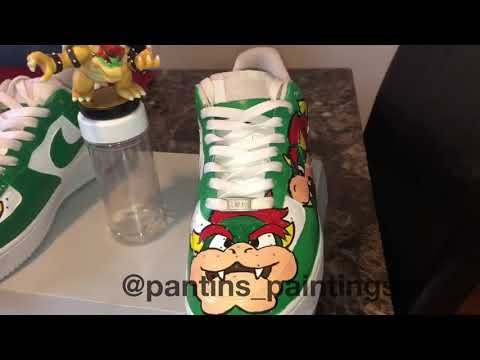 FINISHED! CUSTOM Bowser Air Force Ones!